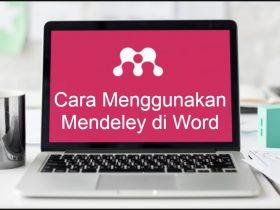 Cara Menggunakan Mendeley di Word