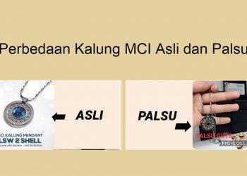 Perbedaan kalung MCI asli dan palsu